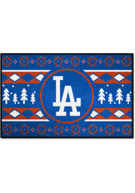 Los Angeles Dodgers 19x30 Holiday Sweater Starter Interior Rug