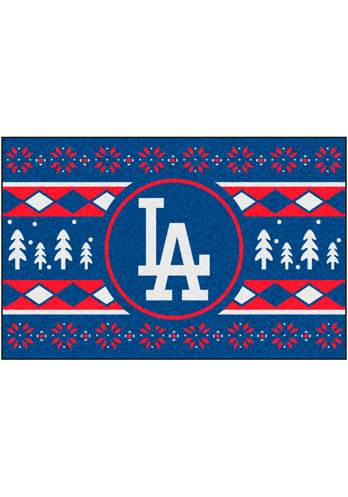 Los Angeles Dodgers 19x30 Holiday Sweater Starter Interior Rug - Image 2