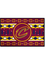 Cleveland Cavaliers 19x30 Holiday Sweater Starter Interior Rug