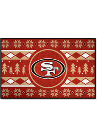 San Francisco 49ers 19x30 Holiday Sweater Starter Interior Rug