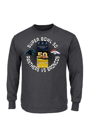 2016 Broncos Super Bowl 50 Ticket Shirt Long Sleeve
