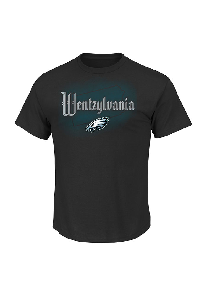 Carson Wentz Philadelphia Eagles Black Wentzylvania Short Sleeve Player T Shirt - Image 1