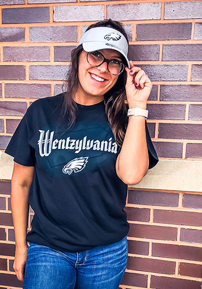 Carson Wentz Philadelphia Eagles Black Wentzylvania Short Sleeve Player T Shirt - Image 2