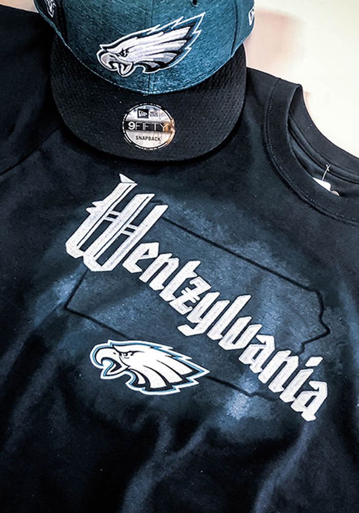 Carson Wentz Philadelphia Eagles Black Wentzylvania Short Sleeve Player T Shirt - Image 3