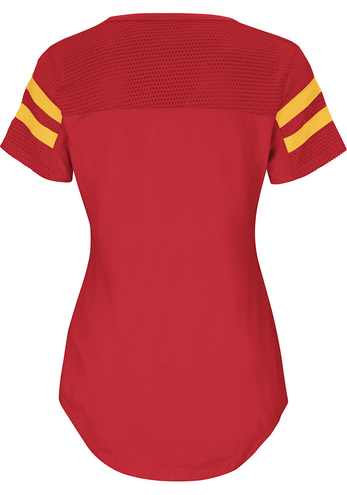 Kansas City Chiefs Womens Red Day Game V-Neck