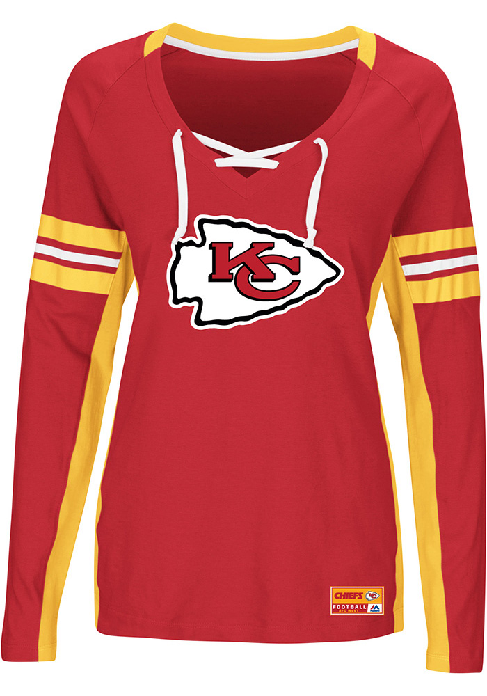 100% authentic bd8aa 8b7bf Kansas City Chiefs Womens Red Winning Style Long  Sleeve T- ... 86bac0385