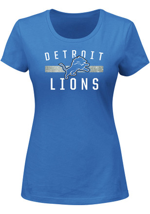 Detroit Lions Womens Franchise Fit Blue T-Shirt