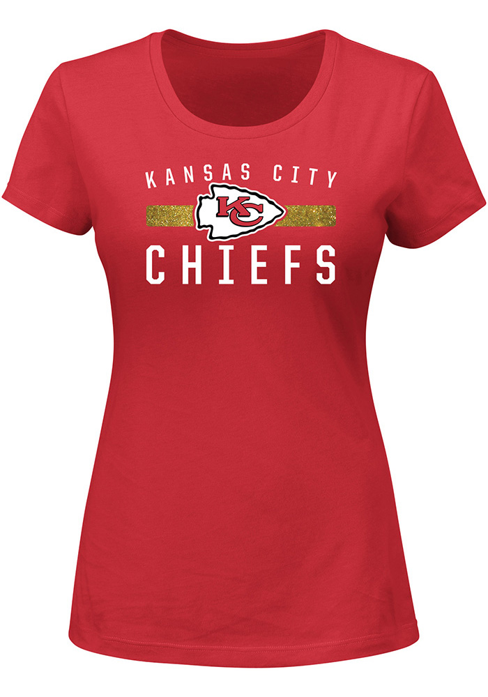 Kansas City Chiefs Womens Red Franchise Fit Short Sleeve Crew T-Shirt - Image 1