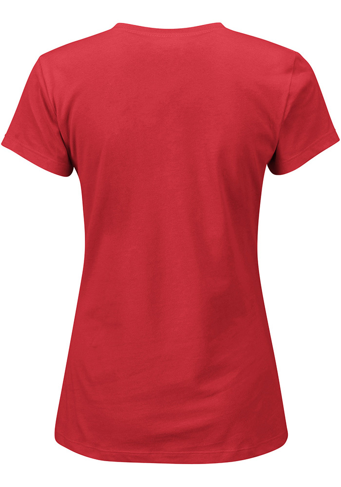 Kansas City Chiefs Womens Red Franchise Fit Short Sleeve Crew T-Shirt - Image 2