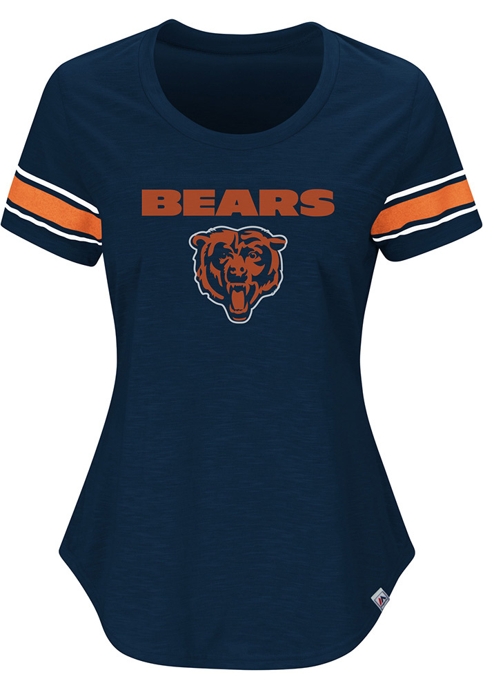 7a145d2dc42 ... football nwt chicago bears womens tailgate navy blue scoop t shirt ...