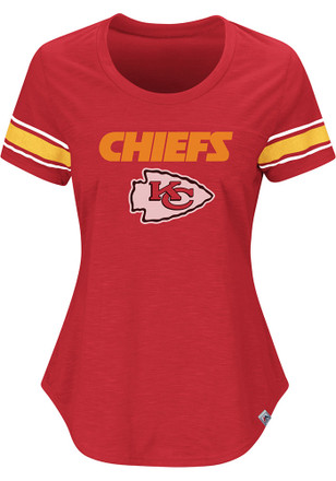 KC Chiefs Womens Tailgate Red Scoop T-Shirt