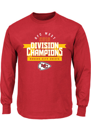 KC Chiefs Mens Red 2016 Division Champions Tee