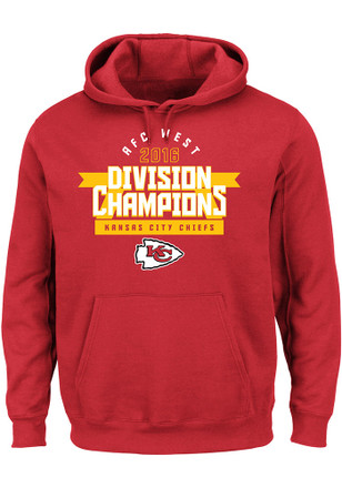 KC Chiefs Mens Red 2016 Division Champions Hoodie