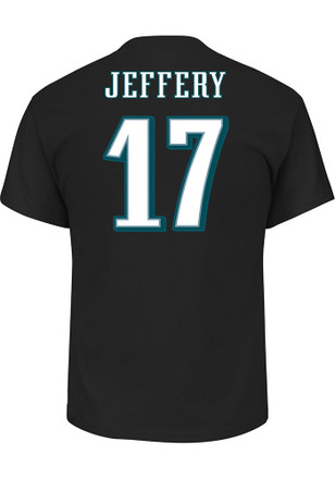 Alshon Jeffery Philadelphia Eagles Mens Black Name and Number Player Tee