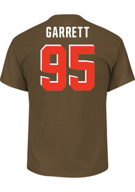 Myles Garrett Cleveland Browns Brown Name and Number Player Tee