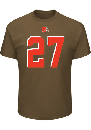 Jabril Peppers Cleveland Browns Mens Brown Name and Number Player Tee