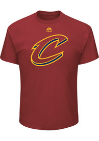 Majestic Cleveland Cavaliers Red Team Logo Tee