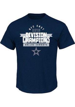 Cowboys Mens Navy Blue Division Champs Tee