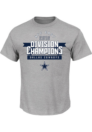 Cowboys Mens Grey Division Champs Tee