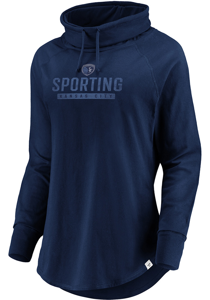Sporting Kansas City Womens Navy Blue Be A Pro Crew Sweatshirt - Image 1