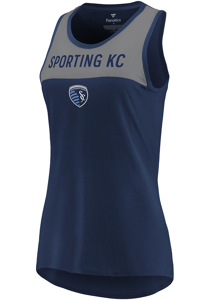 Sporting Kansas City Womens Navy Blue Break From Tradition Tank Top - Image 1