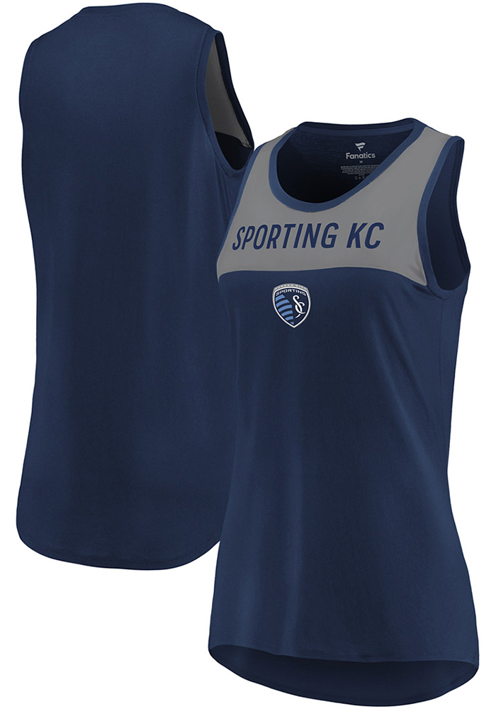 Sporting Kansas City Womens Navy Blue Break From Tradition Tank Top - Image 3