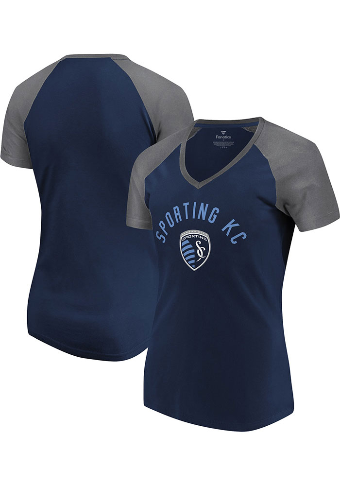 Sporting Kansas City Womens Navy Blue Paid Our Dues Short Sleeve T-Shirt - Image 3