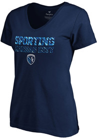 Sporting Kansas City Womens Matchless Vision T-Shirt - Navy Blue