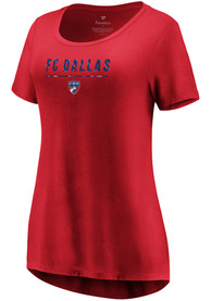 FC Dallas Womens Over Everything T-Shirt - Red