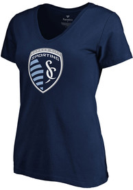 Sporting Kansas City Womens Official Logo T-Shirt - Navy Blue