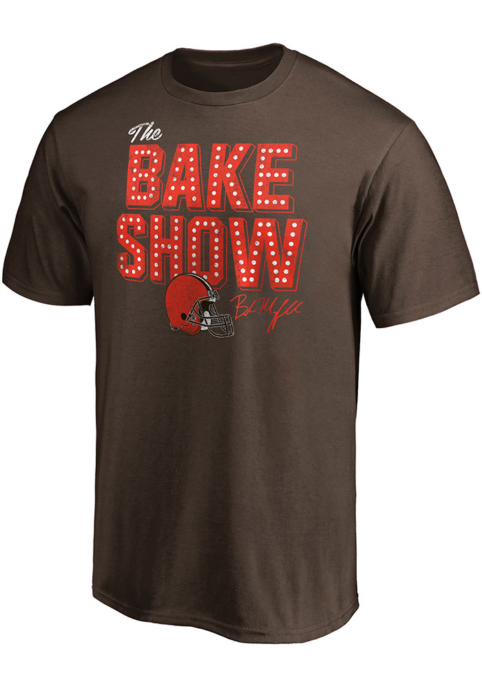 Baker Mayfield Cleveland Browns Brown Bake Show Short Sleeve Player T Shirt - Image 1