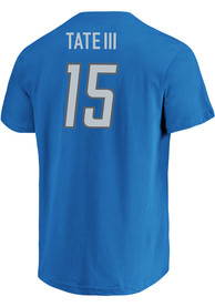 Golden Tate Detroit Lions Blue Name Number Player Tee