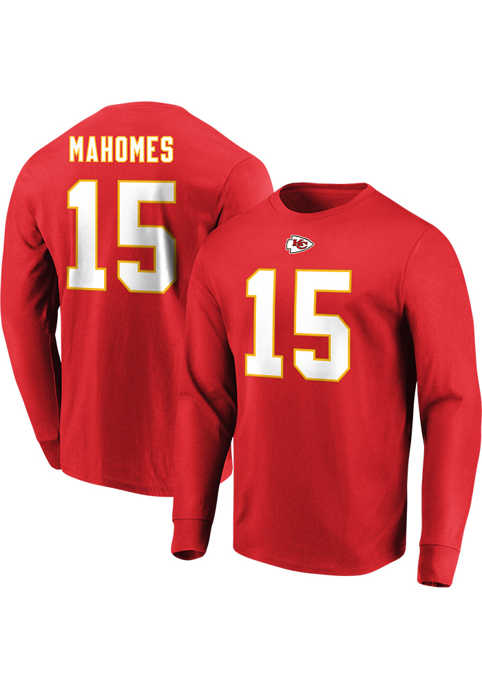 Patrick Mahomes Kansas City Chiefs Red Eligible Receiver Long Sleeve Player T Shirt - Image 1
