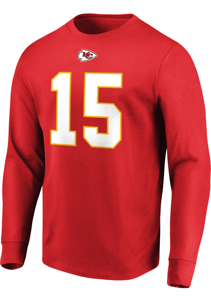 Patrick Mahomes Kansas City Chiefs Red Eligible Receiver Long Sleeve Player T Shirt - Image 2