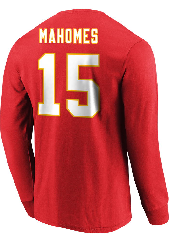 Patrick Mahomes Kansas City Chiefs Red Eligible Receiver Long Sleeve Player T Shirt - Image 3