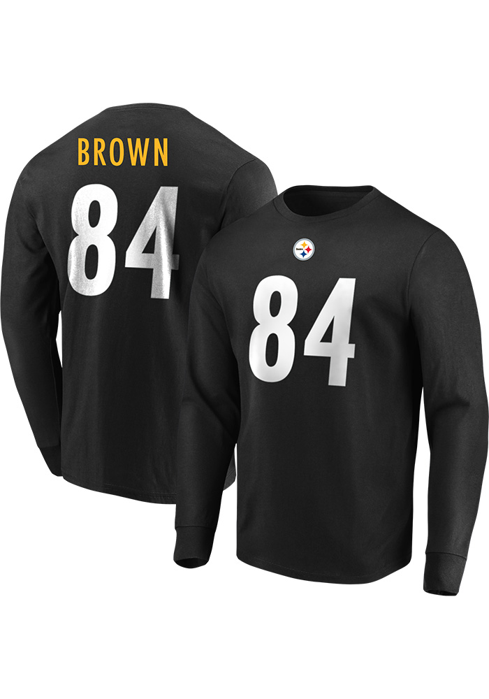 c5e4b54ef Antonio Brown Pittsburgh Steelers Black Eligible Receiver Long Sleeve Player  T Shirt