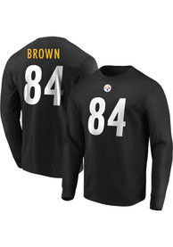 Antonio Brown Pittsburgh Steelers Majestic Eligible Receiver Long Sleeve T-Shirt - Black