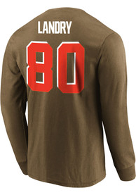 Jarvis Landry Cleveland Browns Majestic Eligible Receiver Long Sleeve T-Shirt - Brown
