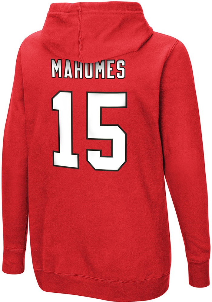Patrick Mahomes VF Sports Kansas City Chiefs Womens Red Fair Catch Hooded Sweatshirt - Image 1