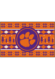 Clemson Tigers 19x30 Holiday Sweater Starter Interior Rug