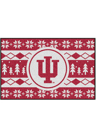 Indiana Hoosiers 19x30 Holiday Sweater Starter Interior Rug