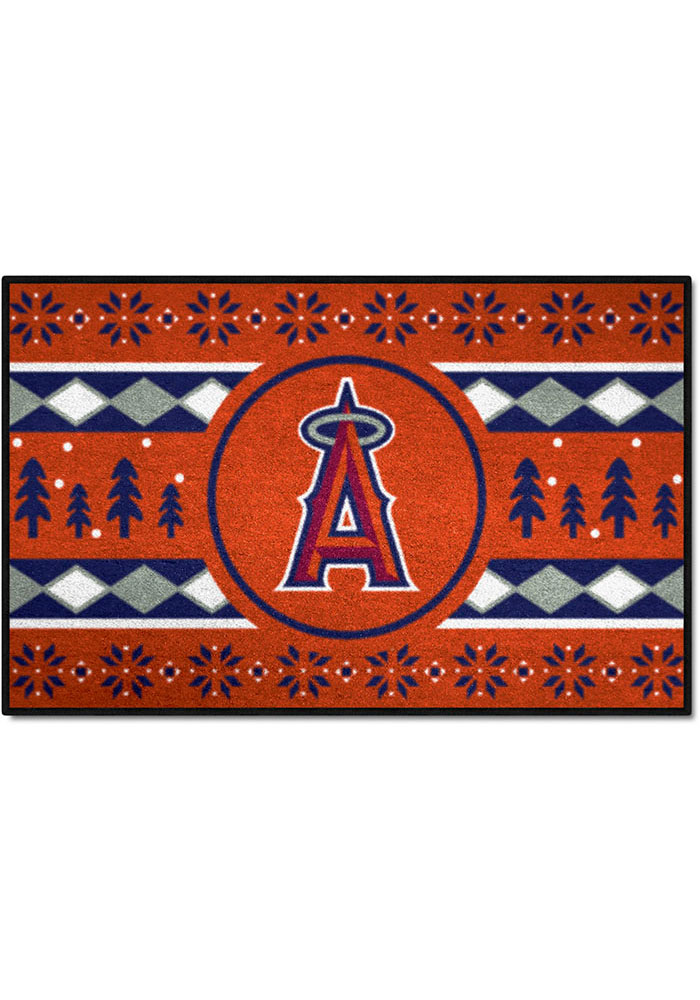 Los Angeles Angels 19x30 Holiday Sweater Starter Interior Rug - Image 1