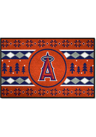 Los Angeles Angels 19x30 Holiday Sweater Starter Interior Rug