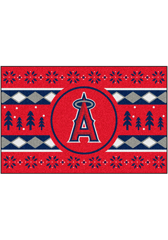 Los Angeles Angels 19x30 Holiday Sweater Starter Interior Rug - Image 2