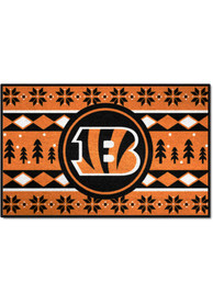 Cincinnati Bengals 19x30 Holiday Sweater Starter Interior Rug