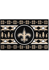 New Orleans Saints 19x30 Holiday Sweater Starter Interior Rug