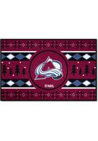 Colorado Avalanche 19x30 Holiday Sweater Starter Interior Rug