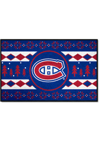 Montreal Canadiens 19x30 Holiday Sweater Starter Interior Rug