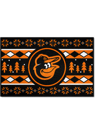 Baltimore Orioles 19x30 Holiday Sweater Starter Interior Rug