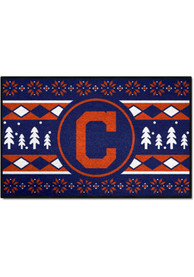Cleveland Indians 19x30 Holiday Sweater Starter Interior Rug